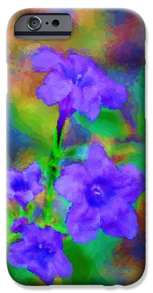 Floral Expression iPhone Case by David Lane