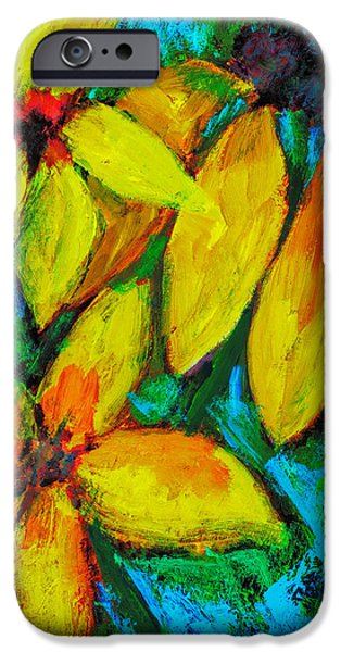 Sheets iPhone Cases - Floral Fantasy iPhone Case by Jo-Anne Gazo-McKim