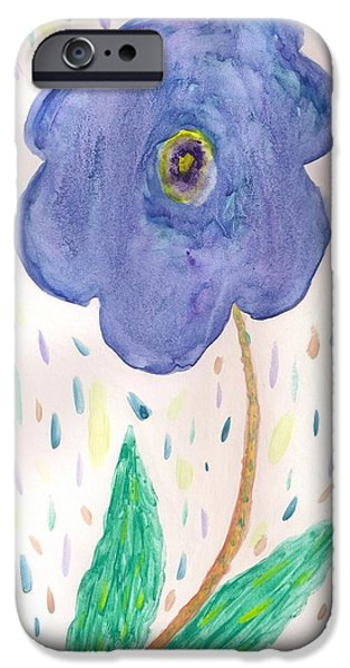 iPhone Cases - Floral In Raiun iPhone Case by Denise Davis