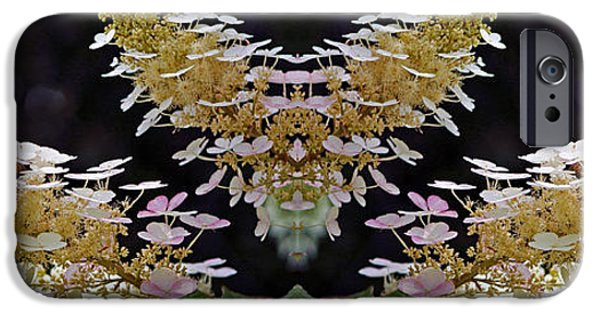 Abstract Digital Photographs iPhone Cases - Floral Panorama iPhone Case by Daniel Unfried