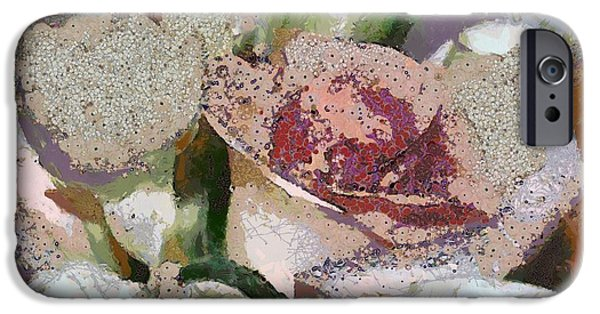 Floral Digital Art Digital Art iPhone Cases - Floral Sands iPhone Case by Catherine Lott