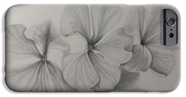 Flora Drawings iPhone Cases - Floral tribute iPhone Case by Robyn Garnet
