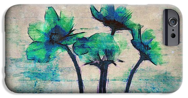 Texture Flower iPhone Cases - Floralitou - 3664-12bb iPhone Case by Variance Collections