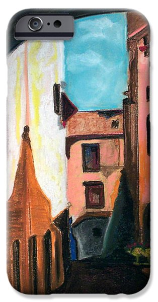 City Scape Drawings iPhone Cases - Florence Cove iPhone Case by Patricia Arroyo
