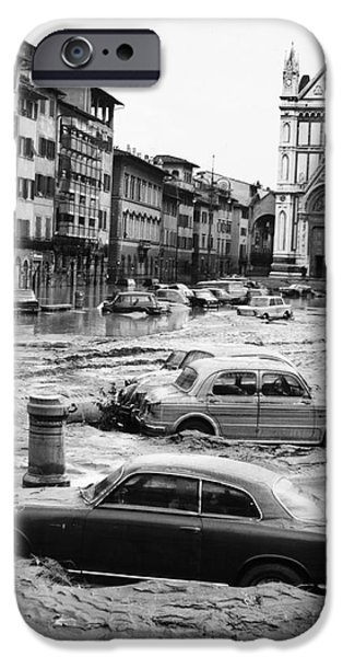 Recently Sold -  - River iPhone Cases - Florence: Flood, 1966 iPhone Case by Granger