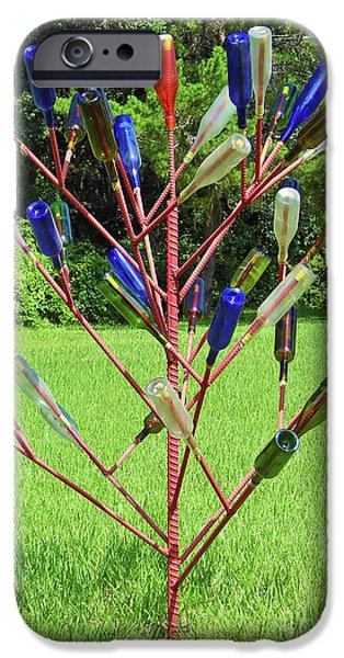 Tree Art Print iPhone Cases - Florida Bottle Tree iPhone Case by D Hackett