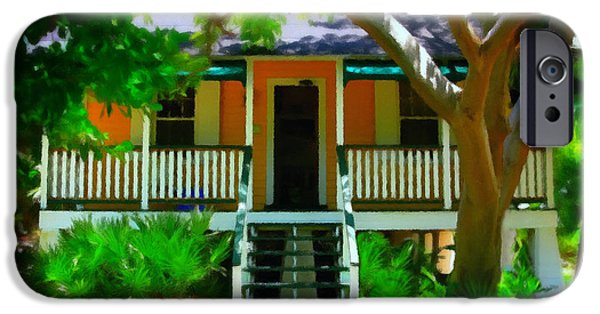 Sun Porch iPhone Cases - Florida Cottage iPhone Case by Perry Webster
