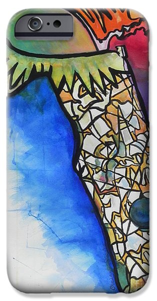 Design iPhone Cases - Florida Fantasy iPhone Case by Chrisann Ellis