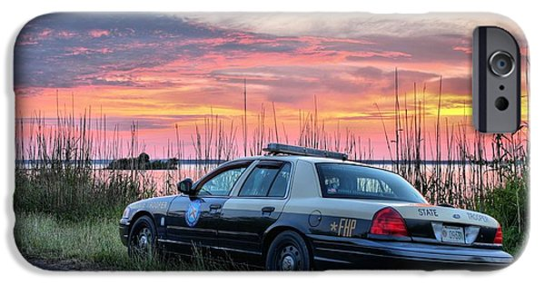 Police Patrol Law Enforcement iPhone Cases - Florida Highway Patrol iPhone Case by JC Findley