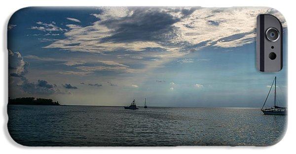 Sailboat iPhone Cases - Florida Keys Sunset iPhone Case by Sam Walker