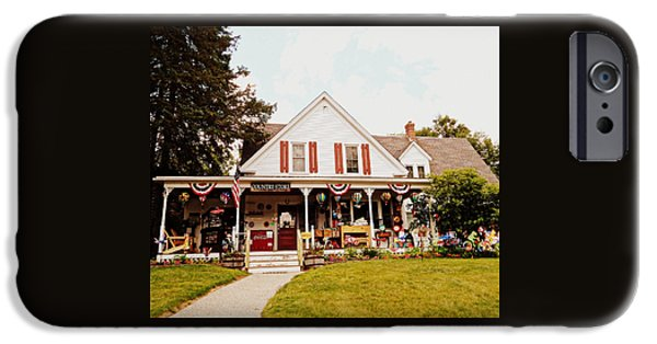 Village iPhone Cases - Flossies General Store iPhone Case by Karen Cook