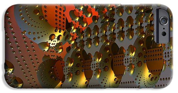 Abstract Digital Art iPhone Cases - Flotilla iPhone Case by Wayne Sherriff