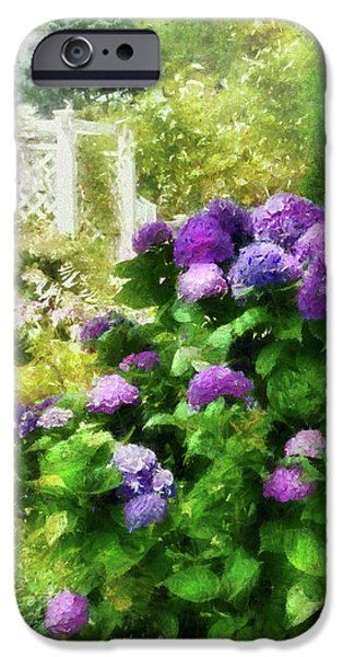 Flower - Hydrangea - Lovely Hydrangea  iPhone Case by Mike Savad