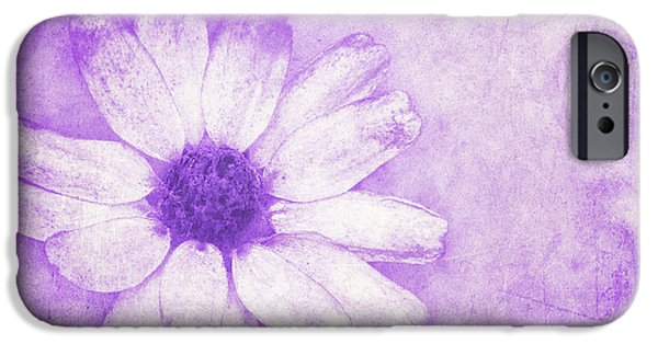 Flora Mixed Media iPhone Cases - Flower Art II iPhone Case by Angela Doelling AD DESIGN Photo and PhotoArt