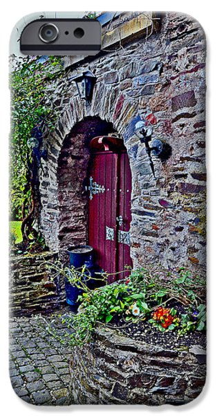 Weapon iPhone Cases - Flower beds. Reichsburg Cochem. iPhone Case by Andy Za