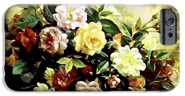 Business Pastels iPhone Cases - Flower Bouquet Creations Catus 1 no. 3 H A iPhone Case by Gert J Rheeders