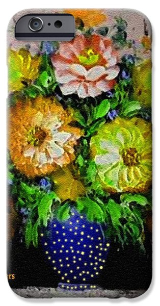 Best Sellers -  - Business Pastels iPhone Cases - Flower Bouquet For Easter 2015 V a iPhone Case by Gert J Rheeders