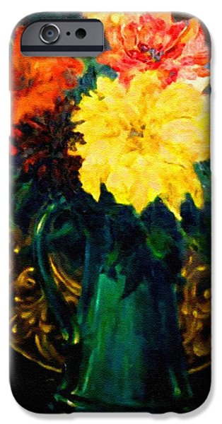 Flower Of Life iPhone Cases - Bouquet For Mrs De Waldt H B iPhone Case by Gert J Rheeders
