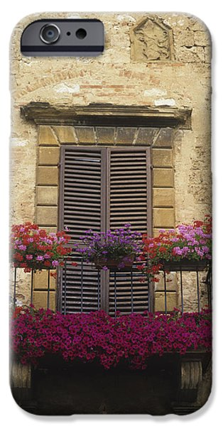 Recently Sold -  - Built Structure iPhone Cases - Flower Covered Balcony iPhone Case by Axiom Photographic