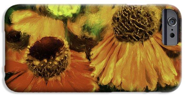 Painter Photographs iPhone Cases - Flower Dance iPhone Case by Jean OKeeffe Macro Abundance Art