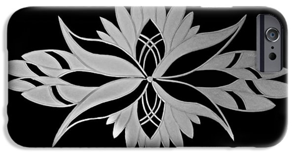 Modern Abstract Glass Art iPhone Cases - Flower of Victoria iPhone Case by Robert Zeman