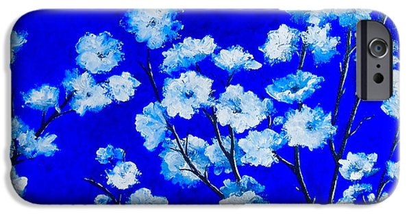 Tree Art Print iPhone Cases - Flower Painting - Plum Blossom iPhone Case by Jan Matson