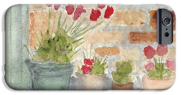 Petals iPhone Cases - Flower Pots iPhone Case by Ken Powers