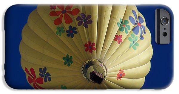 Hot Air Balloon iPhone Cases - Flower Power Balloon iPhone Case by Ernie Echols