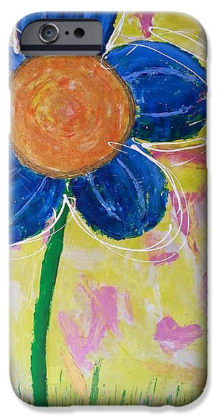 Gloss Varnish iPhone Cases - Flower Power iPhone Case by Brittany Houchin