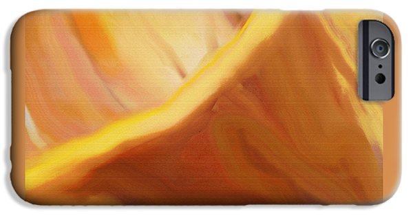 Colorful Abstract iPhone Cases - Flower Power iPhone Case by Lenore Senior