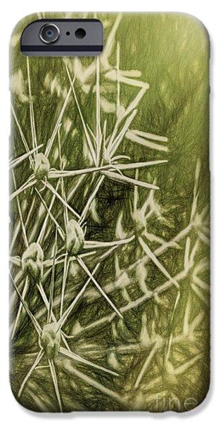 Meadow Photographs iPhone Cases - Flower Rays iPhone Case by Jean OKeeffe Macro Abundance Art