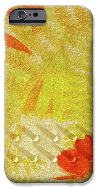 Flower Shower II iPhone Case by Bonnie Bruno
