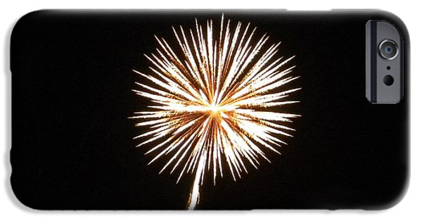 Fireworks iPhone Cases - Flowering Fireworks iPhone Case by Jackie Burlingame