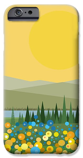 River View iPhone Cases - Flowers After the Rain iPhone Case by Val Arie