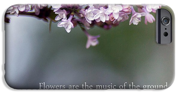 Lilacs iPhone Cases - Flowers are Music iPhone Case by Rebecca Cozart