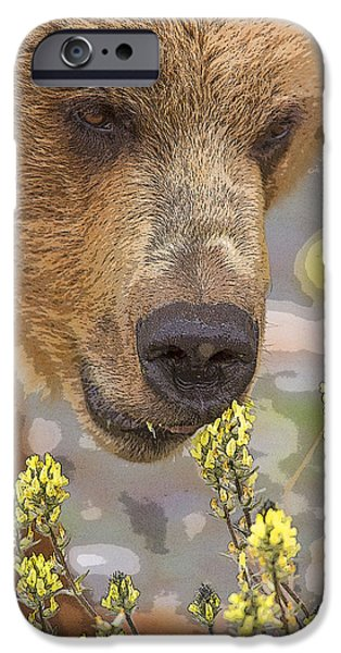 Abstract Digital Photographs iPhone Cases - Flowers for Lunch- Abstract iPhone Case by Tim Grams
