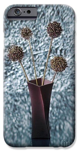 """indoor"" Still Life Digital Art iPhone Cases - Flowers of Life iPhone Case by Athanasios Athanasiou"