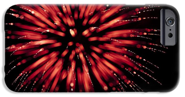 Fourth Of July iPhone Cases - Flowerworks #17 iPhone Case by Sandy Swanson