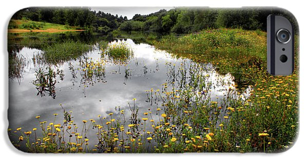 Recently Sold -  - Field. Cloud iPhone Cases - Flowery Lake iPhone Case by Carlos Caetano