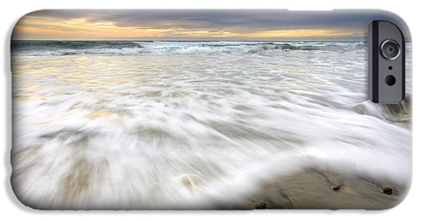 Beach Landscape iPhone Cases - Flowing Stones iPhone Case by Mike  Dawson