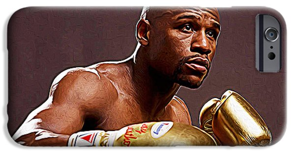 Floyd Mayweather Jr. iPhone Cases - Floyd Mayweather Jr. iPhone Case by Queso Espinosa