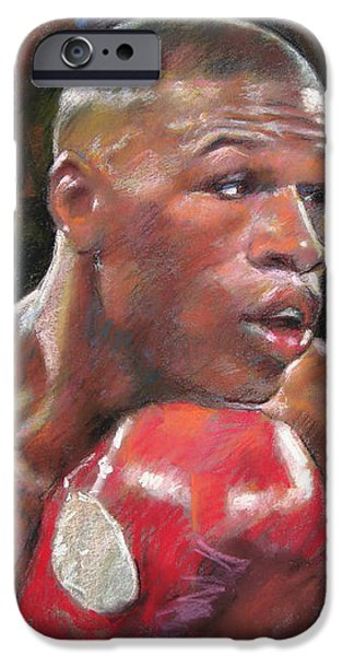 Floyd Mayweather Jr iPhone Case by Ylli Haruni