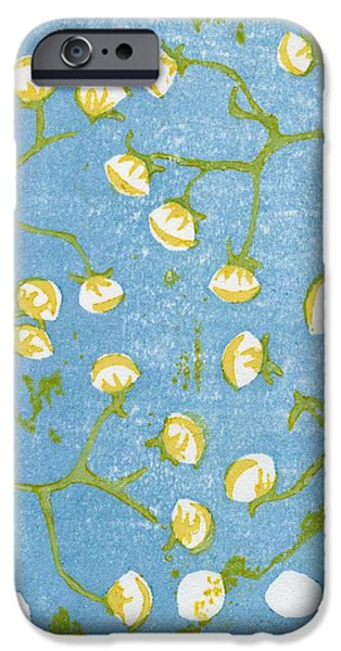 Floral Still Life Paintings iPhone Cases - Fluffy Seedheads iPhone Case by Bella Larsson