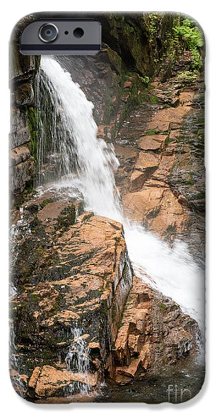 Ledge iPhone Cases - Flume Gorge iPhone Case by Sherman Perry