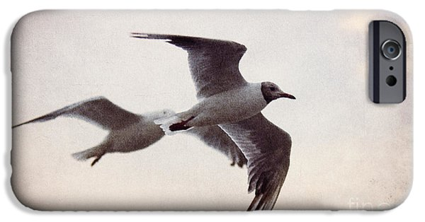 Herring Gull iPhone Cases - Flying iPhone Case by Angela Doelling AD DESIGN Photo and PhotoArt