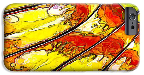 Red Abstract iPhone Cases - Flying Away... iPhone Case by Bill Caldwell -        ABeautifulSky Photography
