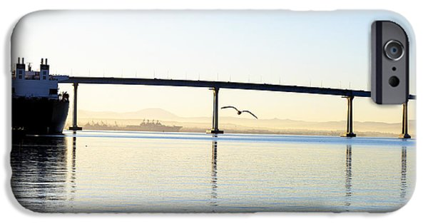 Bay Bridge iPhone Cases - Flying By iPhone Case by Joseph S Giacalone
