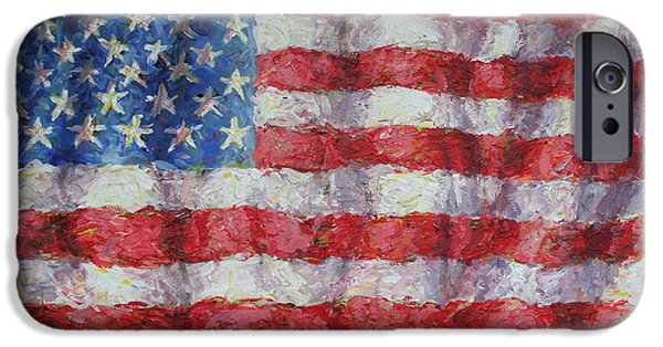 4th July Paintings iPhone Cases - Flying Glory iPhone Case by Jimmy Leach