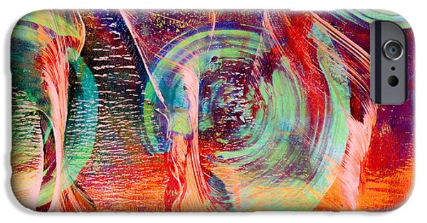 Waving Flag Mixed Media iPhone Cases - Flying High iPhone Case by Laura L Leatherwood
