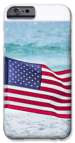 Fourth Of July iPhone Cases - Flying in the Beach Breeze iPhone Case by Shelby  Young